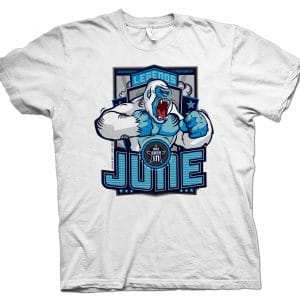 Legends Are Born in June White Gorilla T-shirt